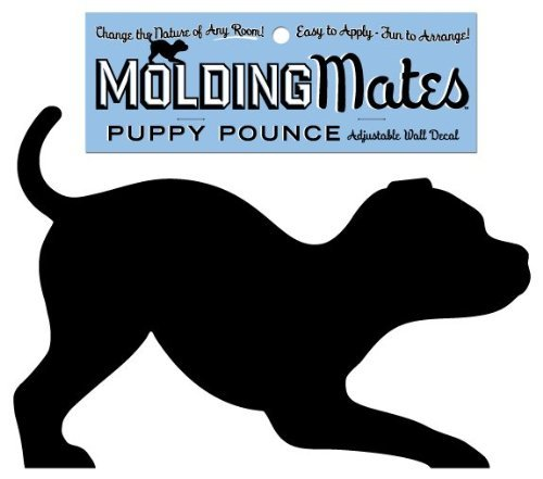 Molding Mates Puppy Pounce Molding Mates Home Decor Peel and Stick Vinyl Wall Decal Sticker - 1