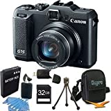 Canon Powershot G15 12 MP High-Performance Digital Camera 32GB Bundle