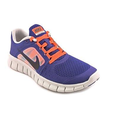 Nike Free Run+ 3 (Kids) - Deep Royal Blue / Black-Street Grey, 4 M US