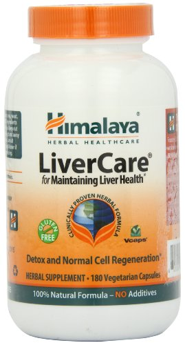 Himalaya Herbal Healthcare LiverCare -- 180 Vegetarian Capsules