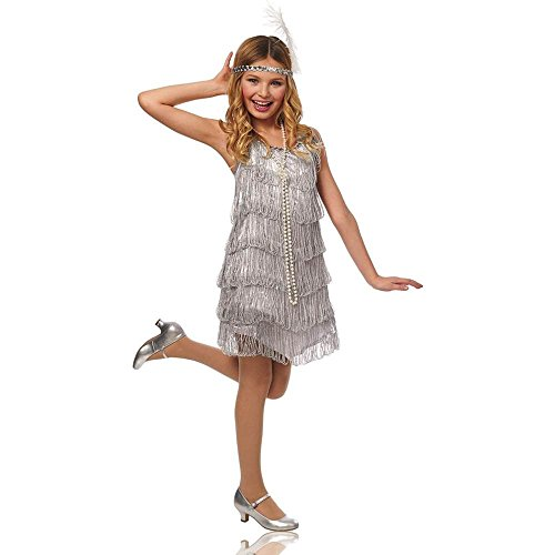 Silver-Flapper-Kids-Costume