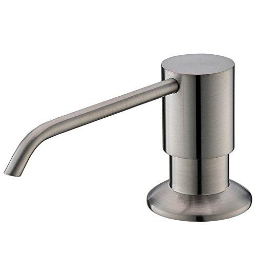 comllen brushed nickel kitchen sink countertop soap