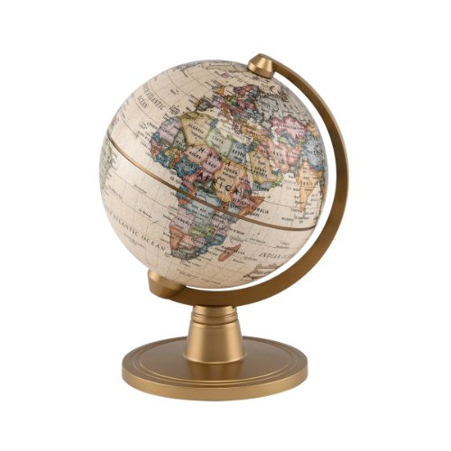 "Stellanova Classic Antique 4"" Mini Globe 0"