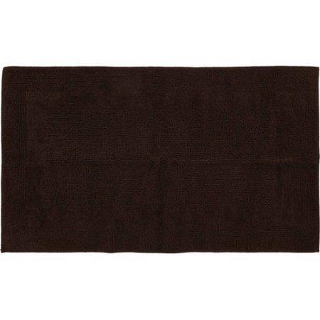 "1'9"" x 2'10"" Cotton Reversible Bath Rug Collection (Costa Brown)"