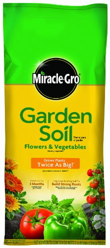 MiracleGro Garden Soil for Flower and Vegetable, 2 Cubic Feet Picture