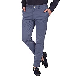 Zobello Men's Blended Chino Trousers-Bering Sea, (30W X 34L)
