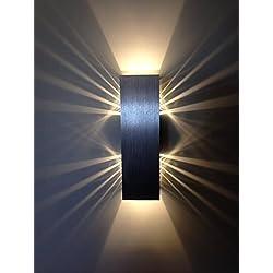 "SpiceLED®-Wandleuchte ""ShineLED-6"" 2x3W warmweiß Wandlampe Leuchte LED Effekt"