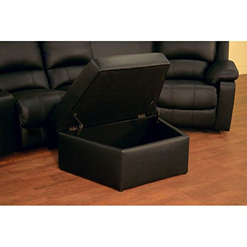 Bxs 8802 Black Top Grain Leather Home Theater Curved