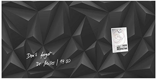 sigel-gl261-glas-magnetboard-magnettafel-artverum-black-diamond-3d-optik-91-x-46-cm-weitere-designs-
