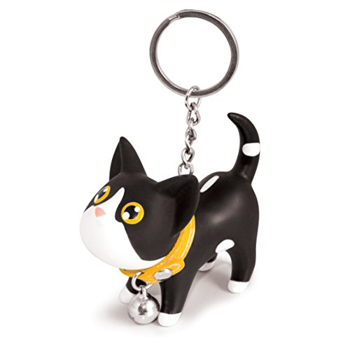 B.Duck Kat Keyring, Black and White - 1
