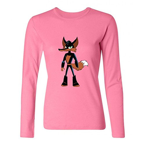 Kettyny Women's Loonatics Unleashed Long Sleeve T Shirt (Lexi Bunny)