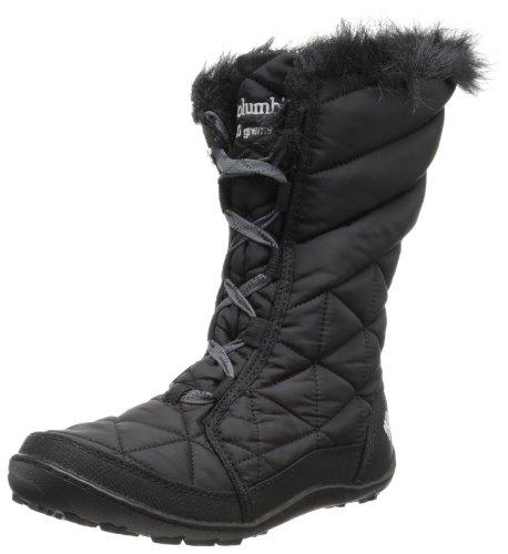 Columbia Minx Mid Omni-Heat Lace Up Winter Boot,Black,4.5 M US Big Kid