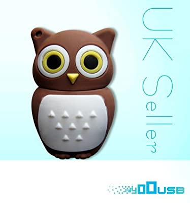 4GB Novelty Cartoon Cute Brown Owl USB Flash Key Pen Drive Memory Stick Gift UK [PC] by YooUSB