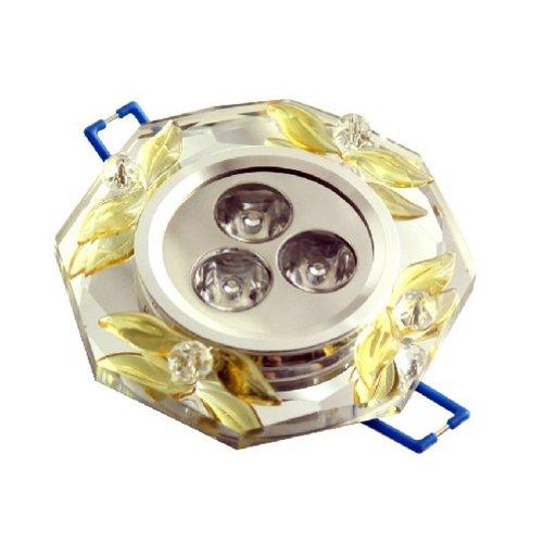 Brightsky 3W Round White Crystal Ceiling Chandelier Led Pendant Light Fixture Lighting Lamp Ac85-265V