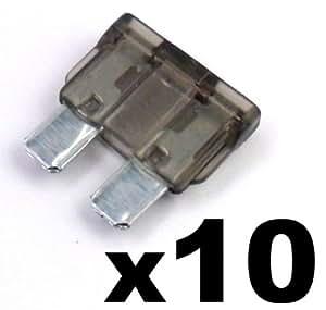 10x Fusibles Standard Enfichables Auto / Voiture / Caravane / Bateau - KFZ - 2 A Amp Gris - Pour 12V / 24V - LIVRAISON GRATUITE!