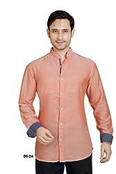 Peach Textured Shirt