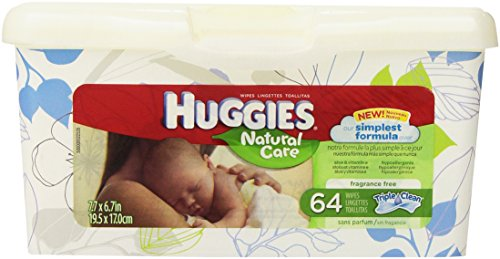 Huggies Natural Care Unscented Baby Wipes Tub - 64ct - 1