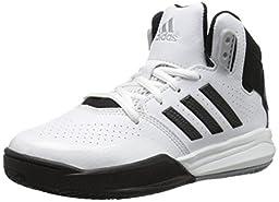adidas Performance Outrival 2 K Basketball Shoe (Little Kid/Big Kid), White/Black/Silver, 12 M US Little Kid