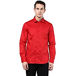 MENS COTTON SHIRT RED XXL