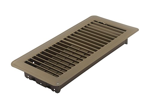 Accord ABFRBR410 Floor Register with Louvered Design, 4-Inch x 10-Inch(Duct Opening Measurements), Brown (Angled Floor Vents compare prices)