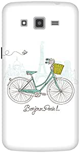 The Racoon Lean White Bonjour Paris hard plastic printed back case / cover for Samsung Galaxy Grand 2