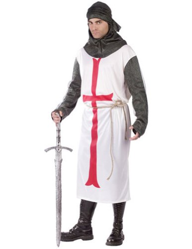 Adult-Costume Templar Knight Adult Halloween Costume - Most Adults