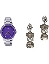 WATCH ME Set Of Watch And Earrings Combo Gift Set For Women & Girls RAK-WM-WM-003-ZKRPGJ1