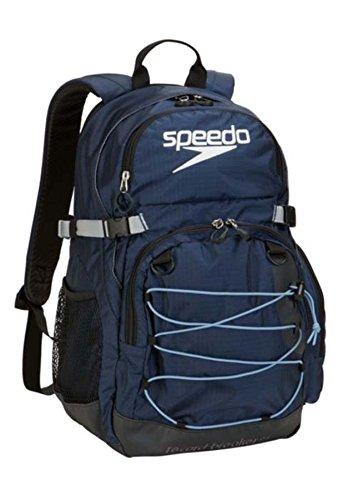 Speedo Record Breaker Backpack, Insignia Blue/Black, 25-Liter