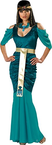 [InCharacter Costumes Women's Egyptian Jewel Adult Costume, Turquoise/Gold, X-Large] (Halloween Costumes Egyptian)