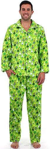 Sleepytimepjs Men'S Christmas Flannel Pajamas-Tree-X-Lrg front-696136