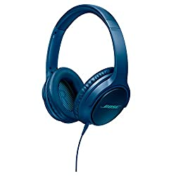 Bose SoundTrue Around-Ear Headphones with Mic (Navy Blue) for Samsung and Android Devices