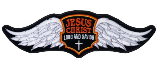 Jesus Wings Embroidered Biker Patch 12