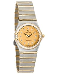 Affordable!! Omega Women's 1277.15.00 Constellation Quartz Small Diamond Accented Watch