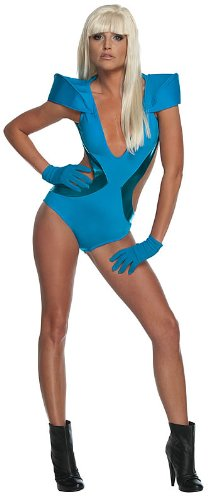 Lady Gaga Swimsuit Costume,Blue,Small