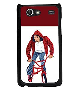 Fuson 2D Printed Boy Designer back case cover for Samsung Galaxy S Advance I9070 - D4314