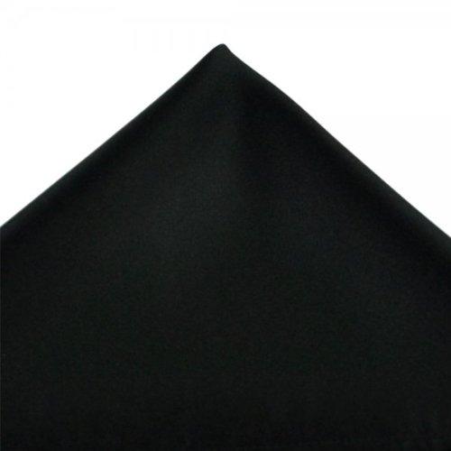 Mens Satin Black Pocket Evening Wedding Handkerchief Hanky