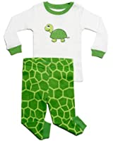 "Leveret Little Boy ""Turtle"" 2 Piece Pajama 100% Cotton (Size 2-8 Years)"