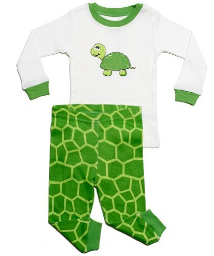 "Leveret ""Turtle"" 2 Piece Pajama (4 Toddler)"
