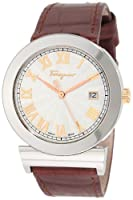 Salvatore Ferragamo Men's F71LBQ9902 S497 Grande Maison Brown Genuine Leather Band Rose Gold Plated Watch from Salvatore Ferragamo
