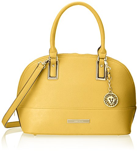 Anne Klein Shimmer Down Satchel Top Handle Bag, Sunglow Yellow, One Size