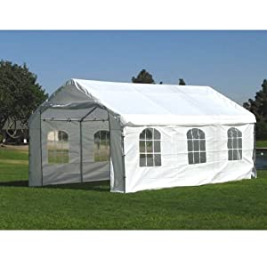 """12' X 20' / 1 5/8"""" Enclosed Canopy with French Windows"""