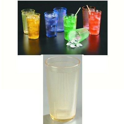 Carlisle Crystalon 20 oz, tessuto a costine, lunga durata-Bicchiere in policarbonato, colore: giallo miele/RimGlow Quantità: 12 Cuscinetti rumorosi