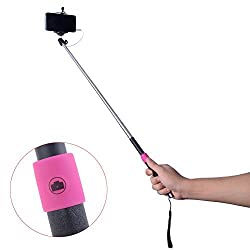 Neewer Telescope Handheld Self-portrait Selfie Stick Monopod with Phone Clamp for Cellphone iPhone 6 Plus/6/5s/5/4s/4 Samsung Note 4/3/2/S3/S4 or Camera GoPro Hero 4 3+ 3 2 1 (Blue) (Extendable Selfie Stick Black)