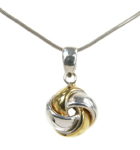 Cavendish French - Sterling silver and gold vermeil knot pendant
