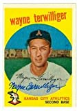 Wayne Terwilliger autographed baseball card (Kansas City Athletics 67) 1959 Topps #496