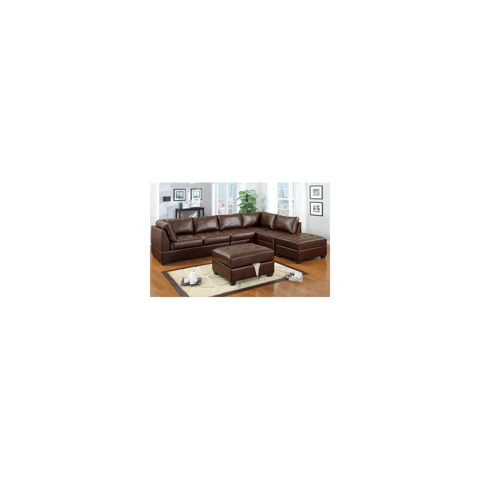 Phenomenal Orange County Ii Walnut Leather Modular Sectional Sofa On Uwap Interior Chair Design Uwaporg