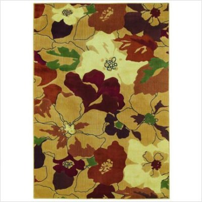 "Reverie Paradise Gold Contemporary Rug Size: 7'8"" x 10'9"""