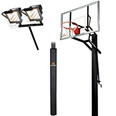Goalrilla GLR GSII 60 Basketball System with Pole Pad and Deluxe Hoop Light by Goalrilla