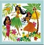 Hawaiian Ceramic Tile Island Hula Honeys 8 x 8 in.