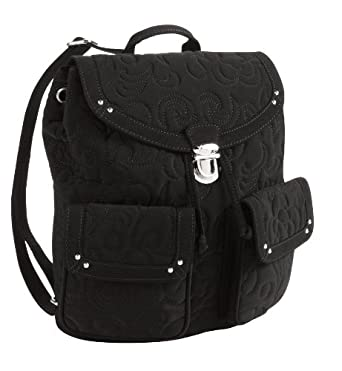 vera bradley backpack in black microfiber clothing. Black Bedroom Furniture Sets. Home Design Ideas